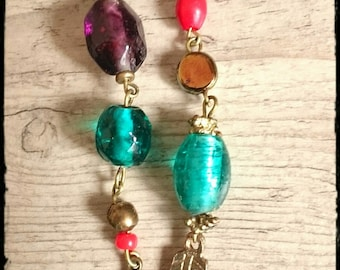 Dangling turquoise earrings - unique and creative