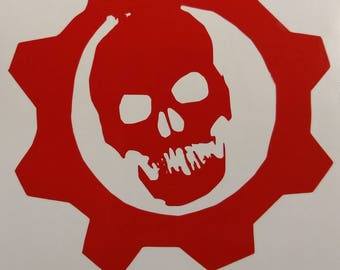 Gears Of War Vinyl Decal, Gears Of War sticker