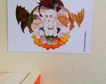 Daenerys - Game of Thrones - Print / Impression A4