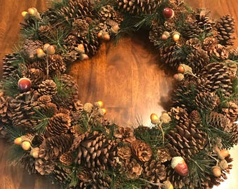 Acorn and Pine Cone Wreath