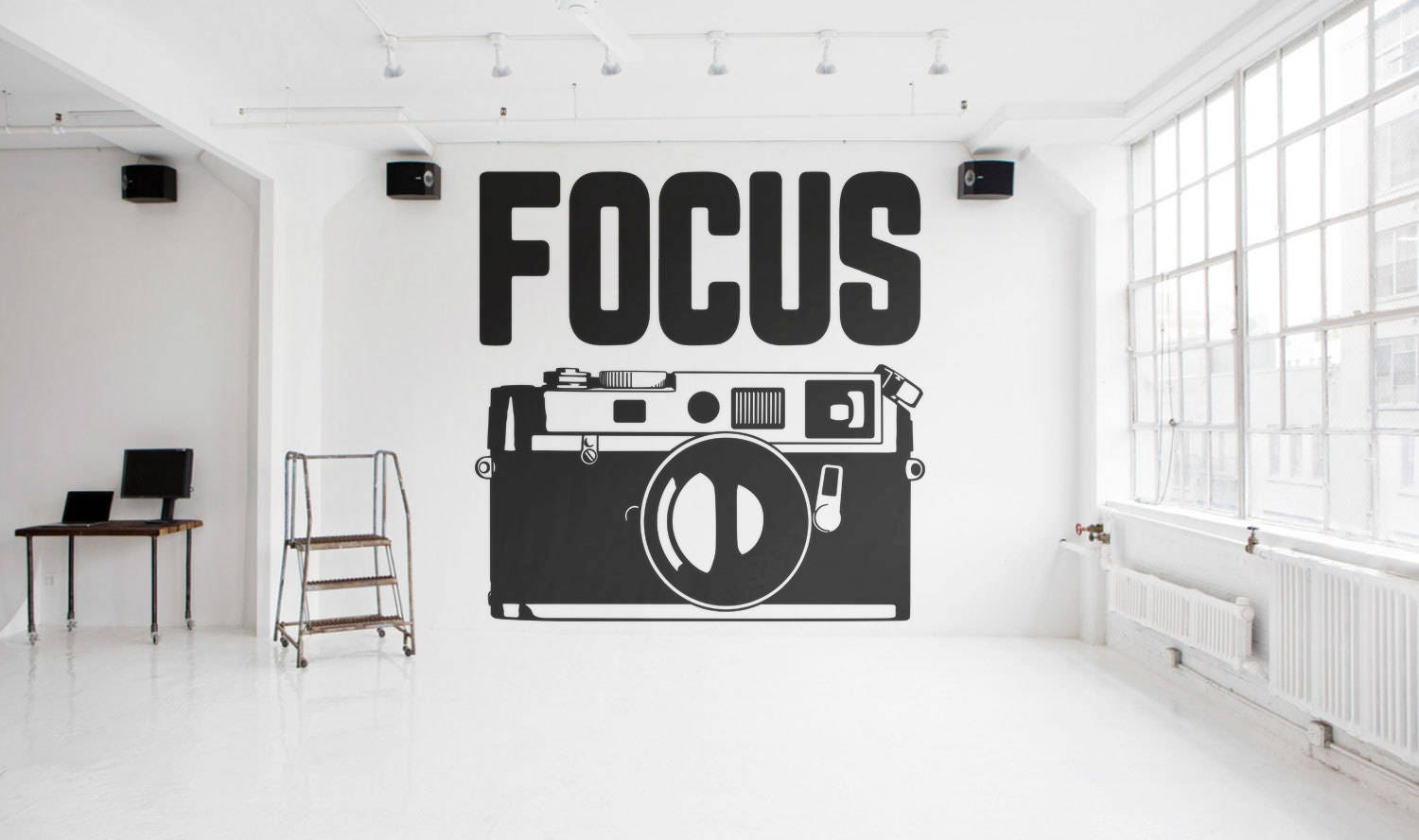 FOCUS - Typography Wall Decals for Home Decor, Lettering ...