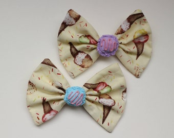 we all scream for ice cream - hair bow set