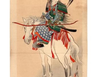 The legendary female samurai (Ogata Gekko) N.1 kuchi-e woodblock print