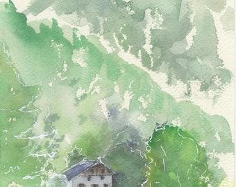 Vosges original watercolor on paper 300g torchon technique