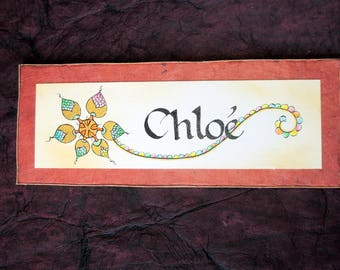 Personalized with name choice door plaque