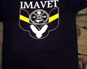 IMAVET Classic T Black cotton/polyester