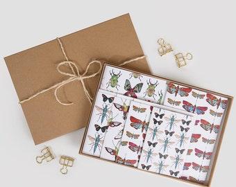 Butterflies & Dragonflies Stationary Gift Set