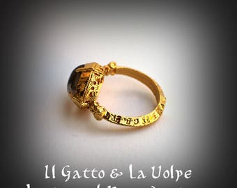 Medieval gilded finger ring replica