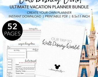 Ultimate Walt Disney World Planner - Create Your Own Disney World Printable Planner - INSTANT DOWNLOAD Planning Letter Size 8.5x11 Paper