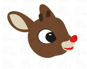 Rudolph Red Nosed Reindeer SVG DXF File