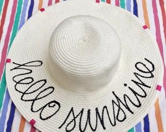 customized sun hat-sun hat-bridesmaid gift-bachelorette party-custom gift