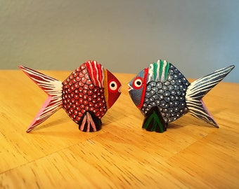 PAIR of Alebrijes Fish - Super cute and meaningful gift, perfect for anniversary or wedding