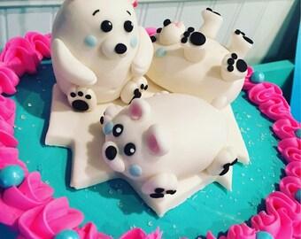 Polar Bear cake toppers