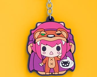Reverse Annie Rubber Keychain - League of Legends Inspired