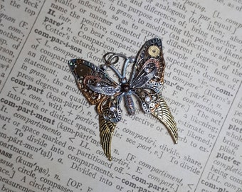 Steampunk, butterfly, butterfly, trailers, gear