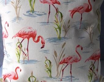 "Fabulous Flamingos 16"" x 16"" Cushion Cover"