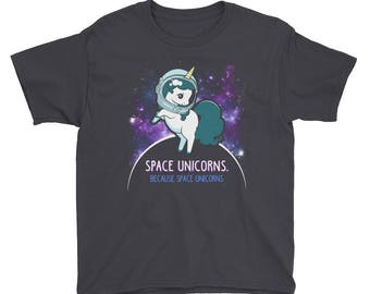 Kids Space Unicorns Shirt | Funny Unicorn T-Shirts | Unicorn Lover Gift