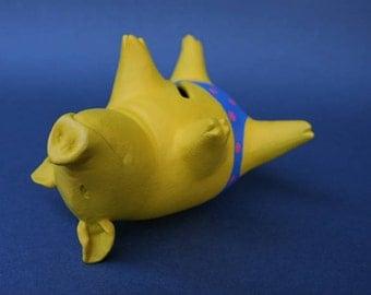 Piggy Bank Artwork: Yellow on The Back