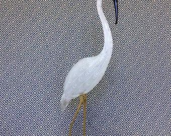 Loretti Oscar Vintage Murano Hand Blown Glass Crane