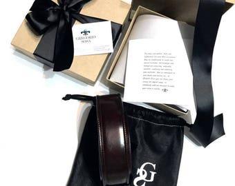 Handcrafted Men's Leather Belt