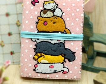 DIY Kit Stacked Cats Notebook / Agenda / Journal