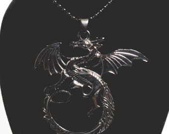 Game Of Thrones Inspired Dragon Necklace, Mother Of Dragons Necklace, Khaleesi Necklace, Daenerys Targaryen Necklace, Dragon Charm Necklace