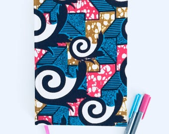2018 Diary, planner, agenda, organiser, journal, African fabric, African diary, ankara, A5 diary, diary 2018