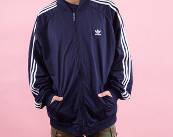 Adidas Track Jacket, Adidas, Adidas Jacket, Navy Blue, Vintage Adidas, 90s, Adidas Stripe, Track Suit, Track Jacket, Sportswear, Athletic