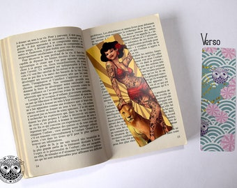 Bookmark - tattooed Woman illustration Marylou Deserson _