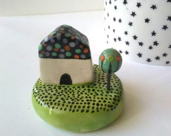 Little House and garden ceramic