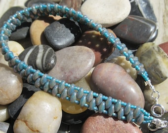 Bracelet Super Duo Bead Up In Smoke