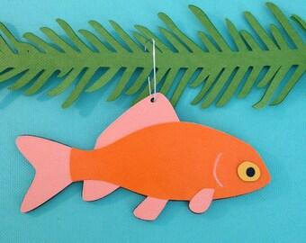 Goldfish Christmas tree ornament