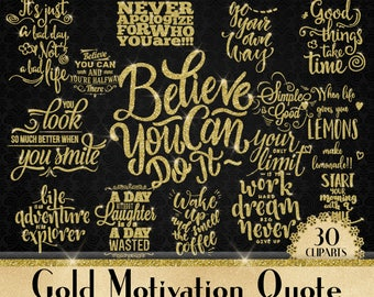Gold Glitter Motivation Quote,Smiling,Coffee,Believe you can do it,Work Hard,Nerver Give Up,Transparent Text,Commercial Motivation Quote