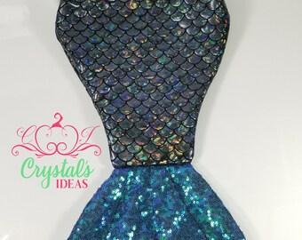 Mermaid tail stocking -Black&Blue