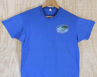 Vintage 1980's 1988 Wood Lake Scout Reservation BSA 50/50 Screen Stars T-Shirt  T Shirt Tee Large L