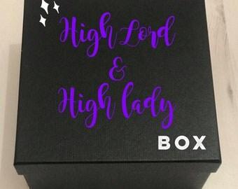 High Lord & High Lady Box, Bookish Box, ACOTAR, ACOMAF, ACOWAR, Rhysand, Feyre, Sarah J Maas