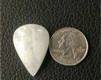 32.30 x 23.10 MM,Pear Shape Rainbow Moonstone/ wire wrap stone/moonstone Cabochon/,silver jewelry/ Pear moonstone cabochon/AAA  Moonstone