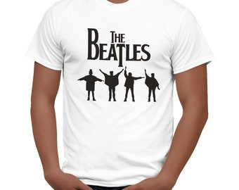 The BEATLES T-shirt ABBEY ROAD tee classic logo t-shirt white new
