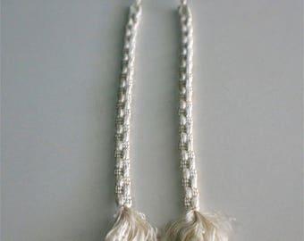 Vintage Japanese Haori Himo Ties Classic Style White Ha61