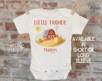 Little Farmer Personalized Onesie®, Baby Shower Gift, Customized Onesie, Farmer Onesie, Country Onesie, Rustic Onesie - 379L