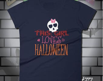 Halloween t-shirt, Womens halloween shirt, halloween shirt, tee shirt, t shirt, womens, women's shirt, halloween, Girl Halloween T-Shirt