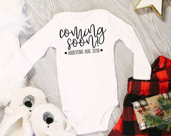 Coming Soon! Birth Announcement | Pregnancy Anouncement Body Suit | Christmas Gift for Grandmother's | New Grandma | Coming Soon Baby