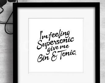 Print / Supersonic / Art / Music / Graphic design / Design / Prints / Contemporary / Wall art / Cool / Icons / Gift