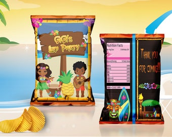 Luau Chip Bag Digital File