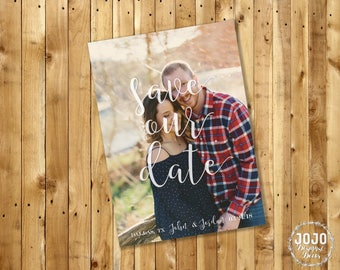 Printable Save the Date, Simple Save the Date, Wedding Save the Date, Photo Save the Date