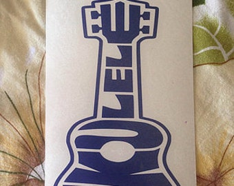 Ukulele vinyl decal!  Available in all colors/sizes!