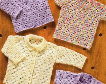 Baby / Toddler Cardigans and Sweaters, Crochet Pattern, Instant Download.