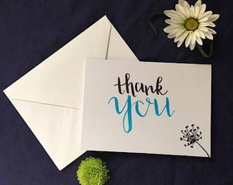 Thank You Card || Greeting Card || Hand Lettered