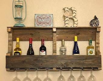 Large Reclaimed Wood Wine Rack