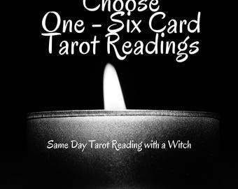 Detailed Tarot Reading with a Psychic Witch One Question Per Card /  PDF Email Same Day One Card love relationship career Tarot